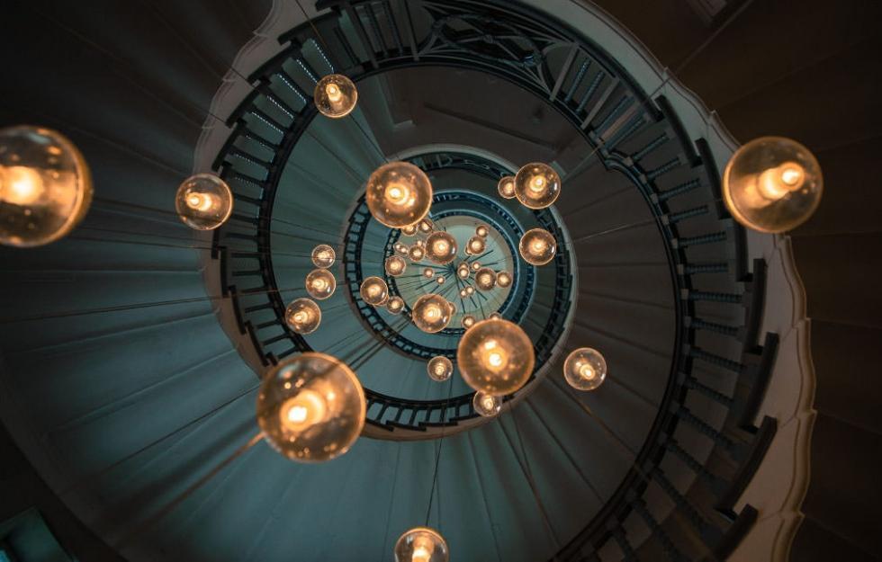 پله های مشهور در بیمارستان لندن، انگلستان