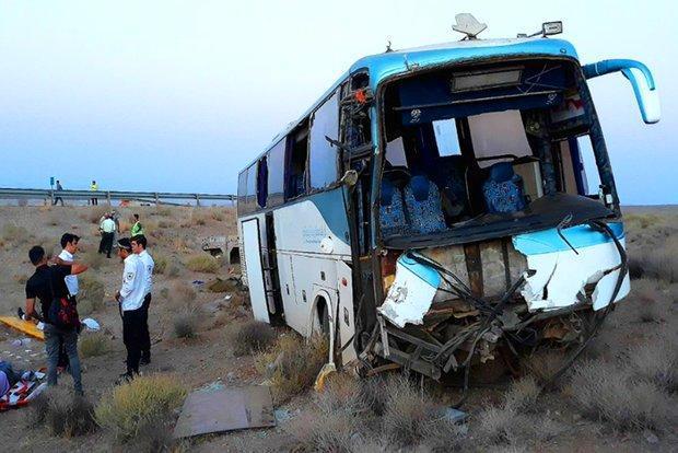 15مورد تصادف اتوبوس در استان سمنان اتفاق افتاده است
