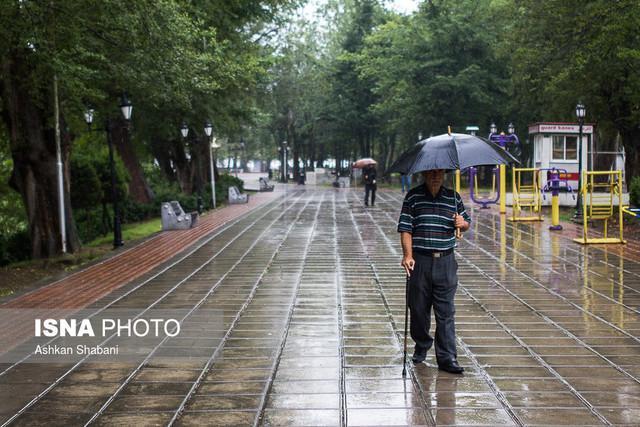 بارش پراکنده باران در پنج استان کشور
