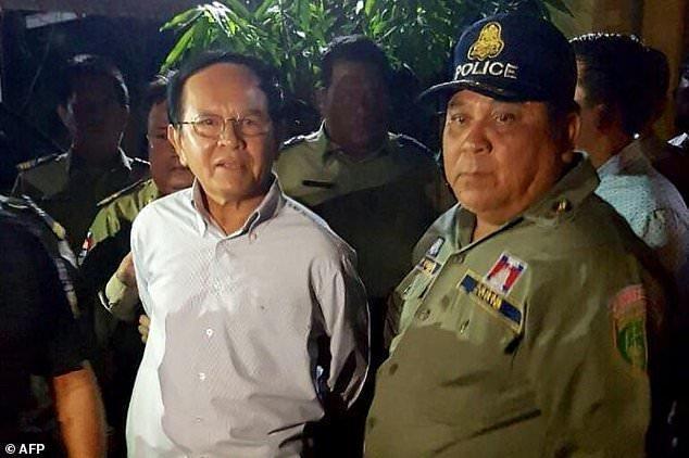 حبس خانگی رهبر اپوزیسیون کامبوج پس از آزادی از زندان