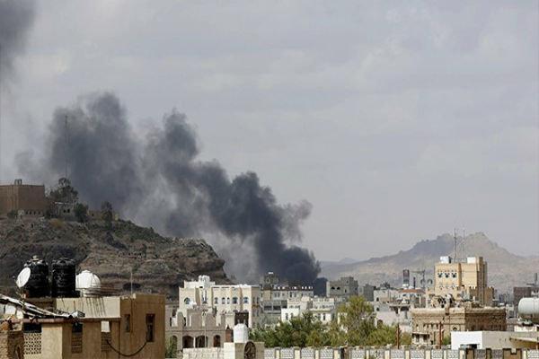 بمباران الحدیده یمن توسط جنگنده های سعودی